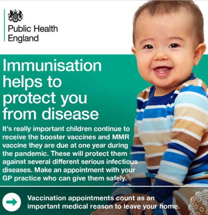 Public Health England Poster - Immunisation helps to protect you from disease
